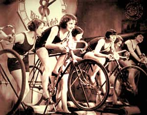 women-on-indoor-bicycle-roller-trainers